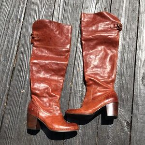 Frye Lucinda slouch over the knee boots size 5.5